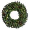"Vickerman 48"" Lighted Artificial Cheyenne Pine Christmas Wreath"
