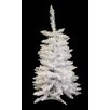 Vickerman Co. 3.5' White Sparkle Spruce Artificial Christmas Tree with Unlit