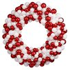 Vickerman Co. Sparkling Candy Cane Shatterproof Christmas Ball Ornament Wreath
