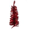 Vickerman Co. 3' Red Artificial Pencil Tinsel Christmas Tree with Red Lights