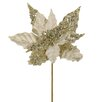 Vickerman Co. Elegant Velveteen Artificial Christmas Poinsettia Flower Pick