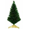Vickerman 3' Xmas Green Artificial Tinsel Christmas Tree with Multi Lights