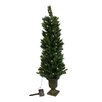 Vickerman Co. 4' Potted Solar Powered Artificial Christmas Tree with LED Clear Lights