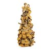 Vickerman Rustic Earth Tone Tree Bark Inspired Table Top Christmas Cone Tree