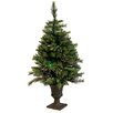 Vickerman Co. 3.5' Mixed Pine Cashmere Potted Artificial Christmas Tree with LED Multi Light