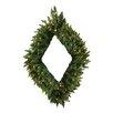 "Vickerman 42"" Lighted Artificial Camdon Fir Diamond Shaped Christmas Wreath"