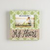 Glory Haus My Heart with Burlap Picture Frame