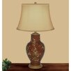 "JB Hirsch Home Decor Daiseys Hand Painted Porcelain 31"" H Table Lamp"