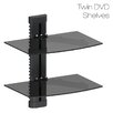 DIHL Double Glass TV Shelf