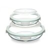 Kinetic Go Green Glasslock Plus 4-Piece Oven Safe Food Storage Container Set