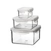 Kinetic Go Green Tritan 3 Piece Rectangular and Square Food Storage Set with Lids