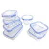 Kinetic Go Green Glasslock Elements 14-Piece Oven Safe Glass Food Storage Container Set