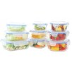 Kinetic Go Green Glasslock Elements 18-Piece Oven Safe Glass Food Storage Container Set