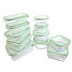 Kinetic Glassworks 22 Piece Oven Safe Glass Food Storage Container Set