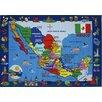 Fun Rugs Fun Time Map of Mexico Kids Rug