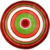 Fun Rugs Fun Shape High Pile Concentric Circles Orange Area Rug