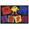 Fun Rugs Pac-Man Party Black Area Rug
