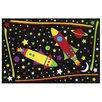 Fun Rugs Fun Time Outer Space Black Area Rug