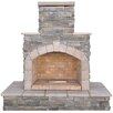CalFlame Natural Stone Propane / Gas Outdoor Fireplace