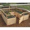 8 ft x 8 ft Western Red Cedar Raised Garden - Outdoor Living Today Planters