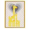 Little Bedding by NoJo Safari Giraffe Framed Art