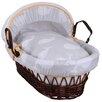 Clair De Lune Whales Wicker Moses Basket