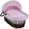 Clair De Lune Rabbits Wicker Moses Basket