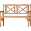 Norfolk Leisure Lucia Folding 2 Seater Wooden Bench