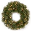 National Tree Co. Atlanta Spruce Wreath with 50 Clear Lights