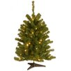 National Tree Co. Eastern Spruce Pre-Lit 3' Green Artificial Christmas Tree with 50 Colored & Clear Lights