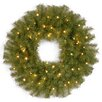 National Tree Co. Norwood Fir Pre-Lit Wreath with 50 Battery-Operated Lights