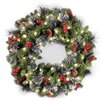 National Tree Co. Crestwood Spruce Pre-Lit Wreath with Clear Lights