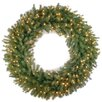 National Tree Co. Norwood Fir Pre-Lit Wreath with 150 Clear Lights