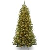 National Tree Co. Rocky Ridge 7.5' Green Slim Pine Artificial Christmas Tree with 600 Clear Lights and Stand
