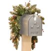 National Tree Co. Glittery Mountain Pre-Lit Spruce Mailbox Swag