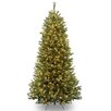 National Tree Co. Rocky Ridge 7' Green Slim Pine Artificial Christmas Tree with 550 Clear Lights and Stand