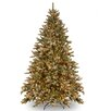 National Tree Co. Snowy Concolor Fir 7.5' Green Artificial Christmas Tree with 750 Clear Lights & Stand