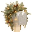 National Tree Co. Frosted Arctic Spruce Pre-Lit Mailbox Swag