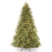 National Tree Co. Tiffany Fir 7.5' Green Artificial Christmas Tree with 750 Pre-Lit Clear Lights with Stand