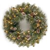 National Tree Co. Glittery Bristle Pine Pre-Lit Wreath