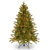 National Tree Co. Avalon 4.5' Green Spruce Artificial Christmas Tree with 350 Clear Lights and Stand