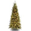 National Tree Co. Tiffany Fir 7.5' Green Artificial Christmas Tree with 550 Clear Lights and Stand