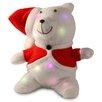 National Tree Co. Decorative Décor Pre-Lit Cotton Bear Christmas Decoration