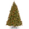 National Tree Co. Bayberry Spruce 7' Green Artificial Christmas Tree with 700 Multi Lights and Stand