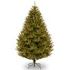 National Tree Co. 7.5' Green California Cedar Artificial Christmas Tree with 800 Clear Lights and Stand