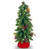 National Tree Co. Downswept 2' Green Artificial Christmas Tree with 35 Pre-Lit Clear Light and Forest