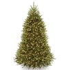 National Tree Co. Dunhill Fir 7.5' Hinged Green Artificial Christmas Tree with 750 Clear Lights