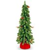 "National Tree Co. Downswept 2' 6"" Green Artificial Christmas Tree with 50 Pre-Lit Clear Light and Forest"