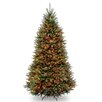 National Tree Co. Dunhill Fir 9' Hinged Green Artificial Christmas Tree with 900 Multicolored Lights