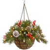 National Tree Co. Frosted Berry Pre-Lit Hanging Basket